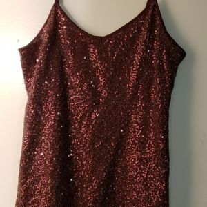 Express burgundy sequined cami